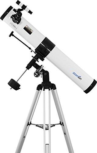 Zoomion Teleskop Voyager 76 EQ, Fernrohr für die Astronomie mit 76mm Öffnung und 700mm Brennweite