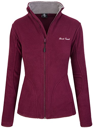 Rock Creek Damen Fleecejacke Fleece Jacke Übergangs Jacke Sweatjacke D-389 [Maroon S]