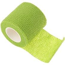 Vendajes Autoadhesivo Adhesivos Venda Adhesiva Cinta Flexible Vendaje No Tejido Elástico Deportivo Del Abrigo Deporte - verde, 2.5 * 450 cm