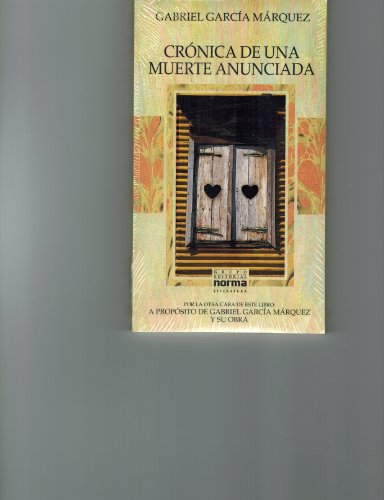 Cronica de una muerte anunciada / Chronicle of a Death Foretold por Gabriel Garcia Marquez