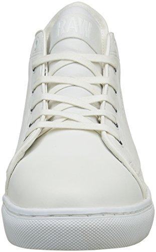 G-STAR RAW Thec Mid Mono, Sneakers Hautes Homme Blanc (bright white 1322)