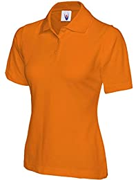 4d56f1d21d2 Ladies Pique Polo Shirt Size UK 8 to 26 Plus All Colours NEW Casual Sports  Gym