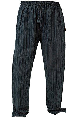 Guru-Shop Yogahose, Goa Hose, Herren, Schwarz, Baumwolle, Size:L (50), Männerhosen Alternative Bekleidung