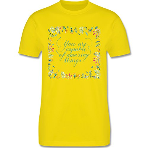 Statement Shirts - You are capable of amazing things - Herren Premium T-Shirt Lemon Gelb