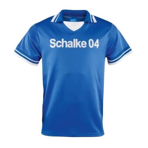 Schalke 04 FC Schalke 04 Retro Trikot Fischer 70er Jahre königsblau, XXL