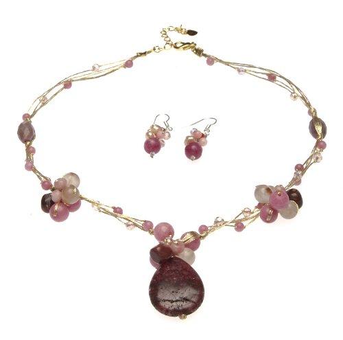 oi-quarzo-rosa-rubini-perle-dacqua-dolce-e-cristalli-su-cordoncino-in-seta-lunghezza-collana-e-orecc