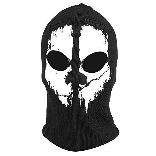 Fortag Unterschiedliche Sturmhaube Geister Schädel-Maske Gesichtshaube Balaclava Windmaske Skimaske Motorradmaske für Herren Damen Outdoor Sports Motorrad Ski Snowboard Ghost Skull Maske (Modell-1)