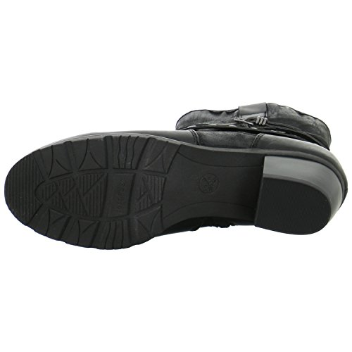 Jana Damen 25327 Biker Boots Black