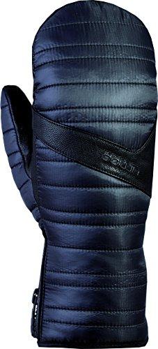 Snowlife Skihandschuhe Snowbardhandschuhe Damen mit echtem Leder und GORE-TEX Membrane, extra warm durch Daunenfüllung und +Gore warm Technologie Down GTX Mitten, schwarz, L/S