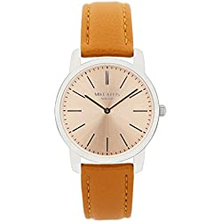 Mike Ellis New York Women's Quartz Watch with Beige Dial Analogue Display and Imitation Leather Beige - SL4527B10
