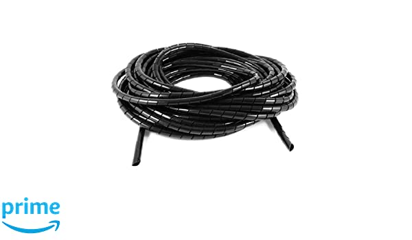 10/m de long PE Poly/éthyl/ène 10/mm c/âble spirale Wire Wrap Tube Noir