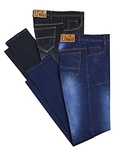 London Looks Men's Jeans (Combo of 2) (LLJ-COMB34_34_BLACK,BLUE)