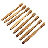 #5: SUPVOX Bamboo Toothbrush 8pcs Natural Wooden ECO Friendly Toothbrush with Soft Bristles