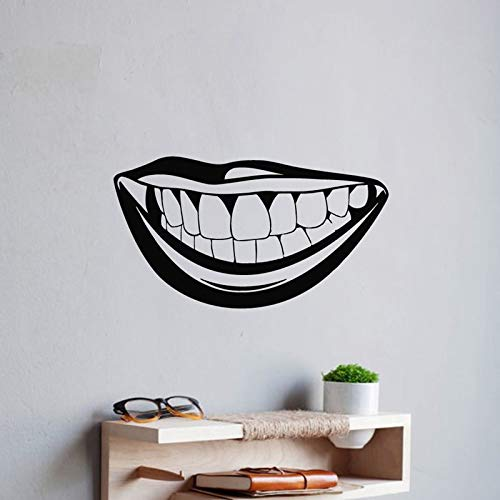 Njuxcnhg Zahn Zähne Aufkleber Zahnarzt Aufkleber Wandaufkleber Poster Vinyl Kunst Wandtattoos Aufkleber Dekor Wandbild Zähne Aufkleber 44X80 cm