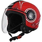Studds Urban Super D1 Matt Red N6 White 580 MM Size L