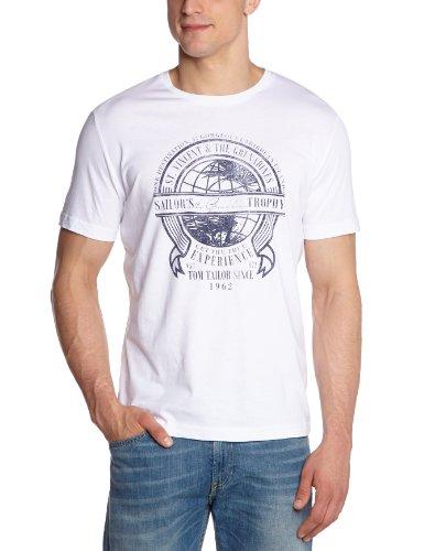 TOM TAILOR Herren T-Shirt 10263340510/sailor experience Weiß (2000  white)