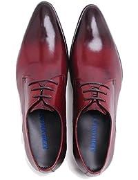 ac389a48161fe Scarpe da Uomo in Pelle da Uomo d Affari Scarpe Derby in Pelle Bretelle  Classico Scarpe Stringate Oxford con Punta A…
