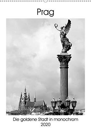 Prag - Die goldene Stadt in monochrom (Wandkalender 2020 DIN A2 hoch): Monochrome Bilder aus Prag im Hochformat. (Monatskalender, 14 Seiten ) (CALVENDO Orte)