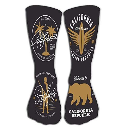 suzhoudoushioumiyafushi Hohe Socken Knee High Fun Socks for Women Men's 19.7