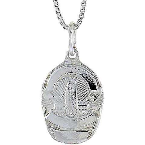 Revoni Los Angeles della polizia Unisex Ciondolo 925 in argento Sterling con (Distintivo Della Polizia Pendente)
