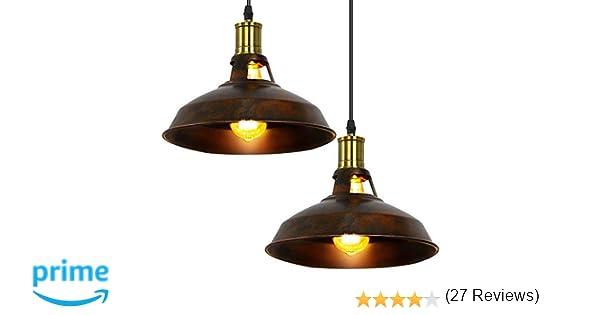 Lampadari Plafoniere Rosse : Fuloon lampadario retro vintage industriale lampada a sospensione