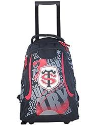 Sac à dos roulettes scolaire TOULOUSE - Collection officielle STADE TOULOUSAIN