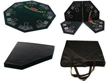 Preisvergleich Produktbild Poker 4-fach faltbare Qualitäts-Pokertischauflage