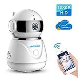 Wlan IP Kamera, SZSINOCAM 1080P FHD WIFI Überwachungskamera mit Nachtsicht Bewegungserkennung Zwei-Wege-Audio Schwenkbar Home Kamera Baby Monitor Mobile App Kontrolle mit Cloud-Service