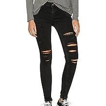 Schwarze zerrissene jeans damen
