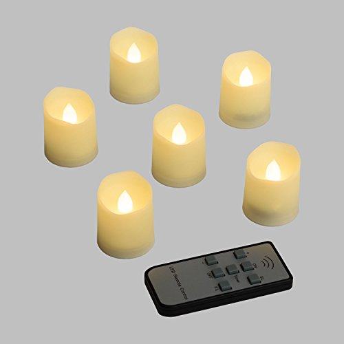 Luminal Park - Set de 6 velas LED h. 4,5 m con efecto llama y mando a distancia multifunción para Decoración de Interior y Fiestas en el Jardín
