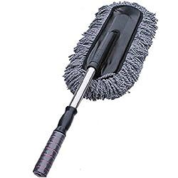 PIXNOR Coche Grande Limpieza Polvo Cepillo Cera Arrastre con Manija Retractable