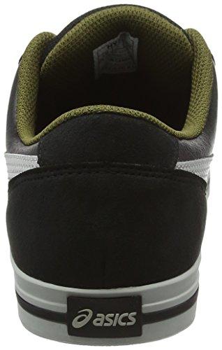 Asics Aaron, Baskets Basses Mixte Adulte Noir (Black/Light Grey)