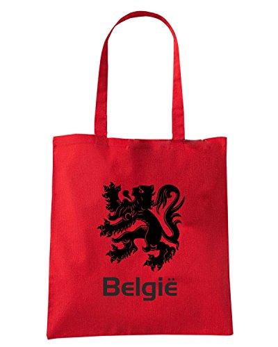 T-Shirtshock - Borsa Shopping WC0032 BELGIUM BELGIO Rosso