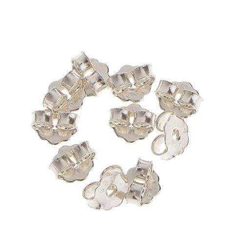 FITYLE 10x Sterling Silber Ohrring Ohrstopper Sicherheit Rcken Kupplung Ohrring Stopper fr Ohrstecker - 3mm