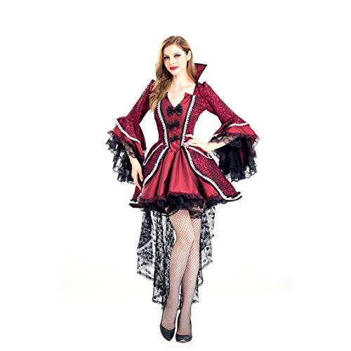 Adult Smoking Kostüm - GAOJUAN Halloween Kostüm Karneval Adult Cosplay Sexy Smoking Vampir Hexen Königin Uniformen,L