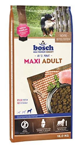 bosch HPC Maxi Adult | Hundetrockenfutter für ausgewachsene Hunde großer Rassen (ab 25 kg), 1 x 15 kg