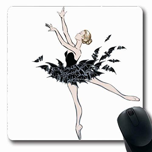 Luancrop Mousepads Fairy Artistic Ballerina Fantasy Kleid Fledermäuse Musik Ballett Skizze Bad Princess Dancer Design Haar rutschfeste Gaming Mouse Pad Gummi-Matte -