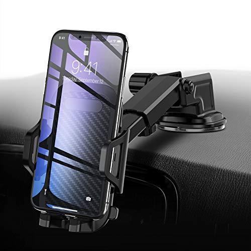 Handyhalter fürs Auto Handyhalterung Armaturenbrett Windschutzscheibe 3 In 1 Smartphone Halterung Kfz für iPhone XS X 8 7 6 Plus, Samsung Galaxy Note S9 S8 S7,Huawei Mate 20 Pro und andere