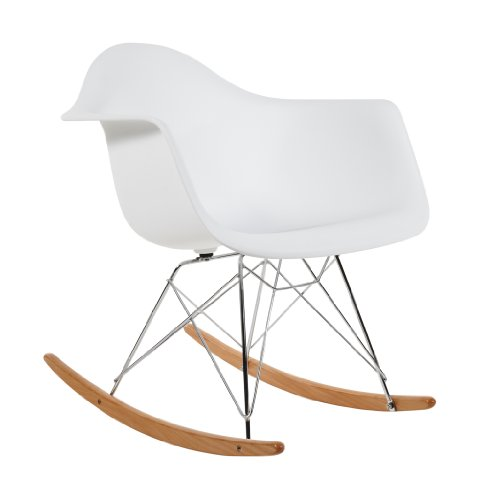 Charles Eames RAR Plastic Rocking Chair - White