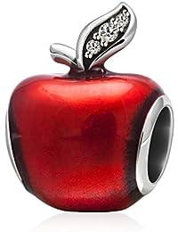 Navidad de Apple Abalorios originales de plata de ley