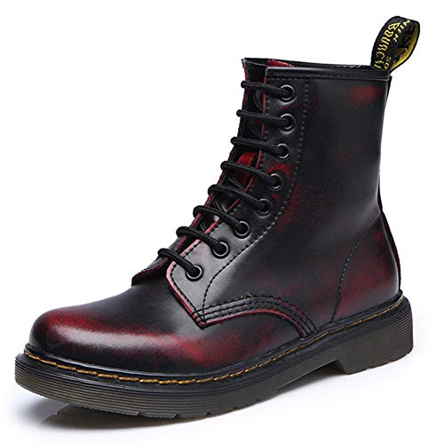 Men s Women s Lace Up Ankle Boots Leather Flat Boots Classic Warm  Waterproof Shoes for Autumn and dc007a7105a