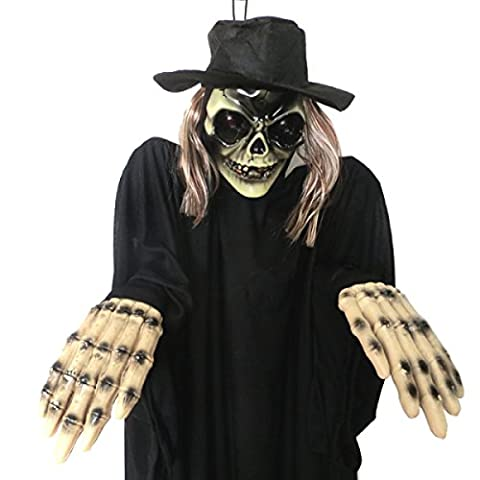Halloween-Verzierung Voice-aktivierte Induktion Electric Hanging Ghost Leuchtende Sound Chamber Escape Haunted Haus Arrangement Horror