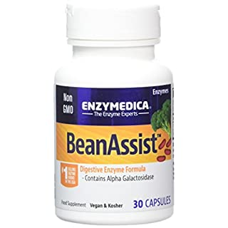 Enzymedica Bean Assist Dietary Supplement Capsules, 30-Count