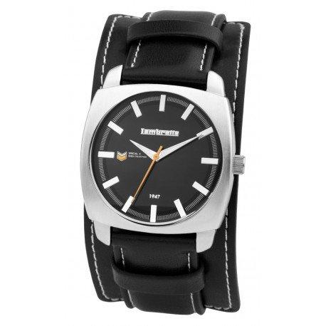 Lambretta LAM2142/BLA - Reloj para hombres, correa de cuero color negro