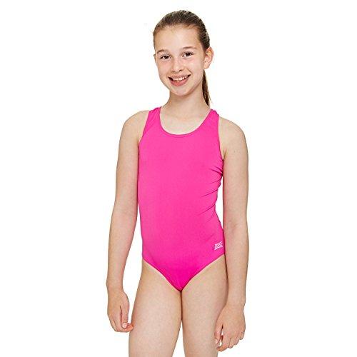 Zoggs Mädchen Badeanzug Cottesloe Sportsback, Pink, 30, (Costume Girl Uk School)