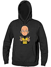 Showing Signs Of Peace With His Hands Men's Hooded Sweatshirt