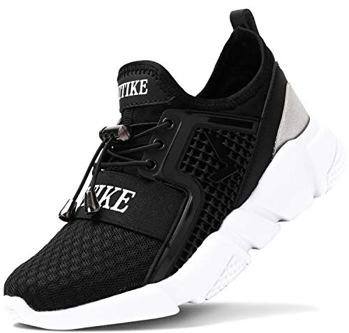 ashion Kinder Turnschuhe Jungen Sport Schuhe Mädchen Kinderschuhe Sneaker Outdoor Laufschuhe für Unisex-Kinder(F-Schwarz,36 EU)