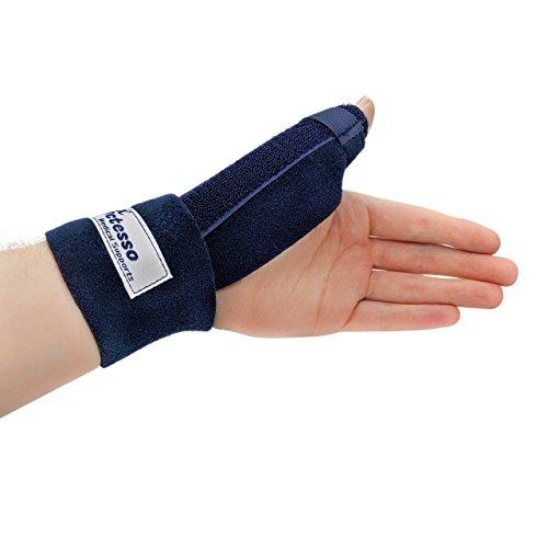 Actesso Bleu Daumenschiene Daumen Bandage - Orthese für Verstauchung, De Quervain und Sehnenscheidenentzündung - Einheitsgröße Links Oder Rechts (Links)