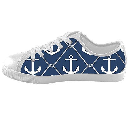 Dalliy Blue ocean Anchor Kids canvas Footwear Sneakers Shoes Chaussures de toile Baskets E