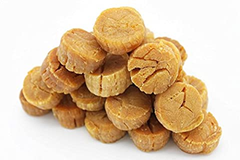 Japanese Dried Scallops Giant Size Dried Seafood Conpoy Yuan Bei Yuanbei 日本北海道元貝皇 Worldwide Free AIR Mail (0.5 pound (16-19